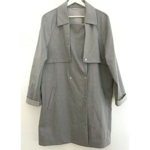 Halogen Size XL Double Breasted Trench Coat Jacket